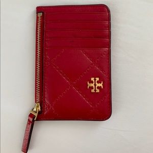 TORY BURCH red small wallet